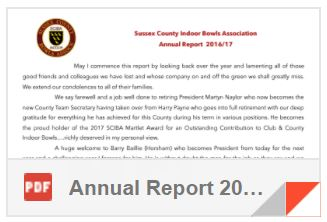 Sussex County Indoor Bowls Association Annual Report 2016/17